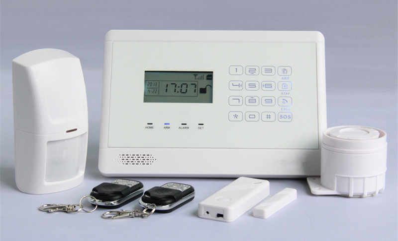 touch keypad LCD gsm alarm system